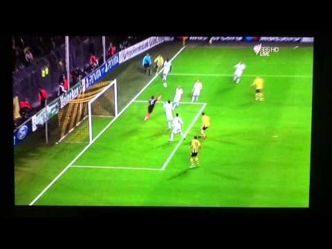 Schmelzer Goal Borussia Dortmund Vs Real Madrid 2-1  CHAMPIONS LEAGUE 25-10-2012