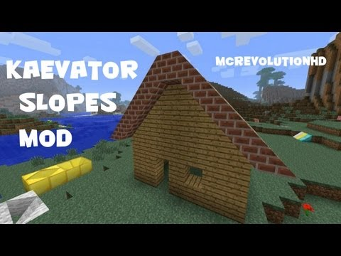 Kaevator Slopes Mod   Minecraft Mod Reviews Episode 1