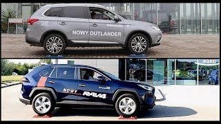 Mitsubishi Outlander AWC vs new 2019 Toyota RAV4 AWD - 4x4 test on rollers