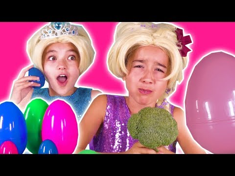 GIANT SURPRISE EGG DARES CHALLENGE - Gummy Candy, Slime, Pranks + MORE | Princesses In Real Life