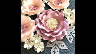 Wild rose paper flower FREE video tutorial_how to make paper flower_DIY paper flower