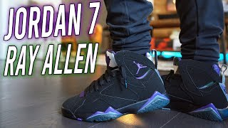 "JORDAN 7 ""RAY ALLEN"" PE REVIEW AND ON FOOT !!!"