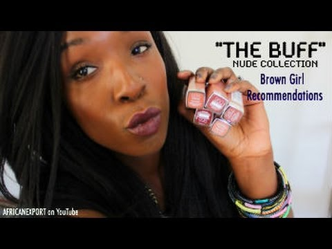Maybelline's New the Buff Nude Collection: Dark Skin, Woc Recommendations Swatches video