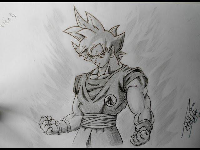 Dibujando a Goku ssj Dios (Dbz)
