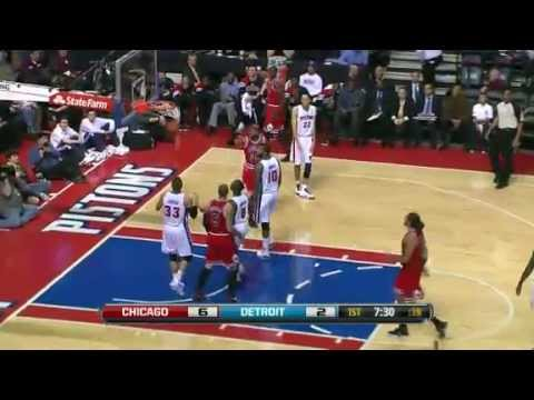Chicago Bulls Vs. Detroit Pistons - Game Recap (1/4/12)