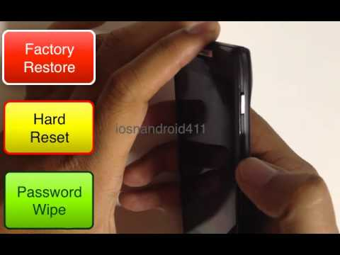 Hard Reset Factory Restore Password Wipe Motorola Droid Razr XT912 Verizon How to Tutorial