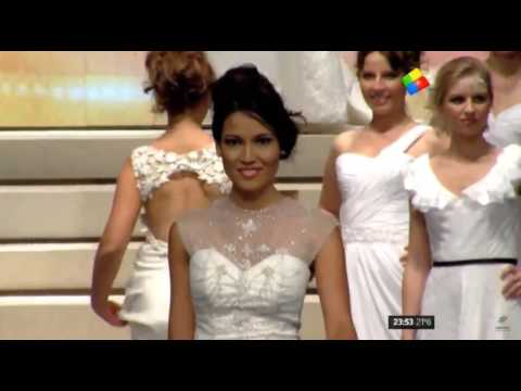 La bella Claudia Barrionuevo y el momento de su coronación