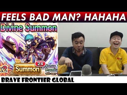Feels Bad Man? Hahaha!! Rare Summon For Lancelot With Milko (Brave Frontier Global)