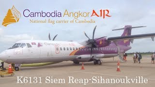 TRIPREPORT | Cambodia Angkor Air K6131 | ATR 72-500 | Siem Reap-Sihanoukville