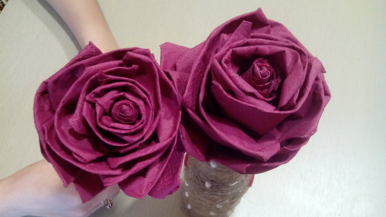Сделать розу из салфеток своими руками