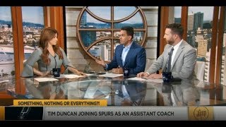 The Jump 7/23/2019 | Rachel Nichols EXCITED Tim Duncan joining spurs as an assistant coach