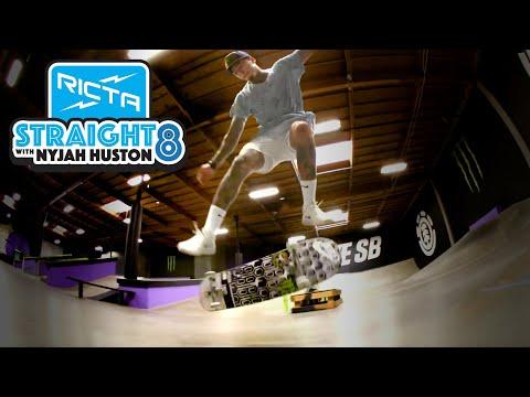 Nyjah Huston Straight 8 Flatground Trick Challenge