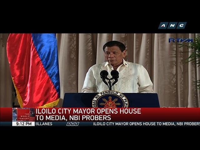 Iloilo City mayor opens house to media, NBI
