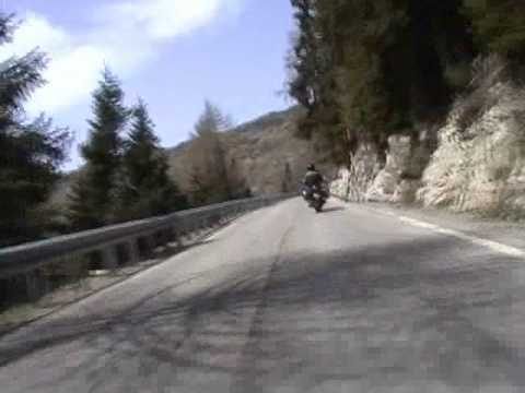 Motorcycle trip through the Italian alps