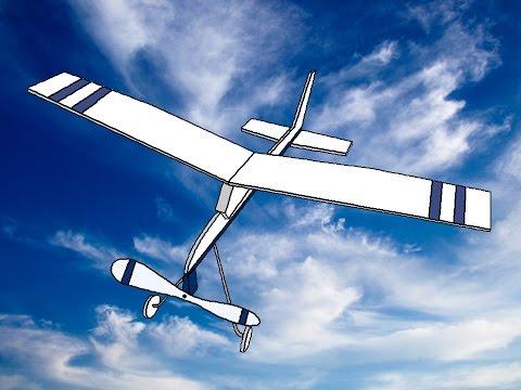 как сделать самолет на резиномоторе / резиномоторный самолет своими руками