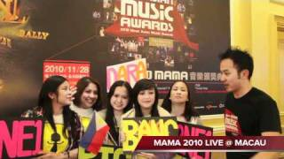 WE R THE FANS of MAMA 2010- 2PM, 2NE1, MISS A Asian LIVE performances
