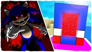 HOW TO MAKE A PORTAL TO THE DIMENSION OF SONIC.EXE - MINECRAFT CREEPYPASTA