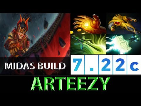 Arteezy [Juggernaut] The Midas Build 780 GPM ► Dota 2 7.22c