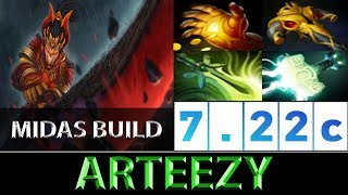 Arteezy [Juggernaut] The Midas Build 780 GPM ► Dota 2 7.22c