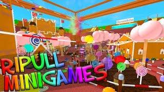 RoBlox. Ripull Minigames - #1 Обзор КЛАССНЫХ мини-игр. Детское видео, игра как мультик.
