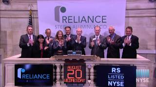 Reliance Steel & Aluminum Co. Celebrates 20 Years of Trading on the NYSE