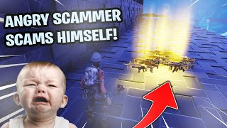 Angry Scammer Scams Himself! (Scammer Gets Scammed) Fortnite Save The World