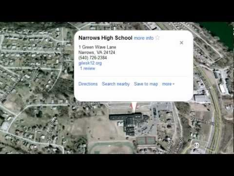 Narrows High School shaped like handgun