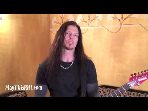 PlayThisRiff.com CHRIS BRODERICK from MEGADETH lesson (3 of 3)