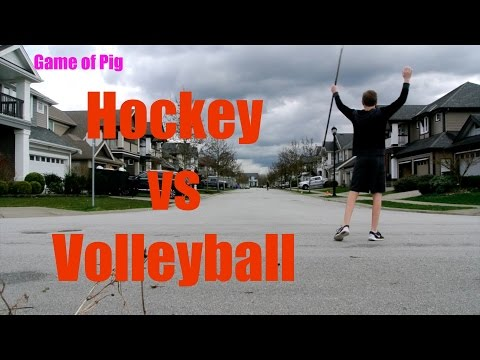 Hockey vs Volleyball Game of Pig