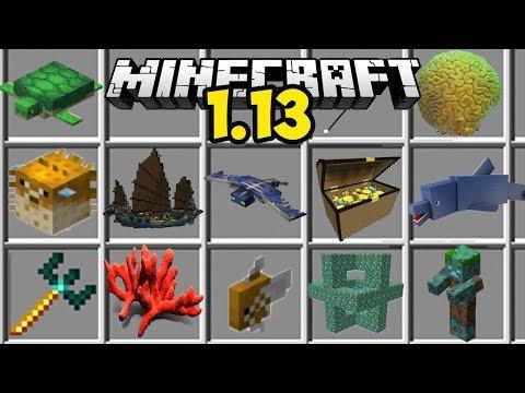 Обзор Minecraft 1.13 (Обзор Майнкрафт 1.13) | ТРЕЗУБЦЫ, НОВЫЕ ОКЕАНЫ, КОРАЛЛЫ, СОКРОВИЩА ПИРАТОВ