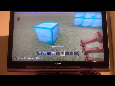Como fazer bloco invisível minecraft xbox one 360 ps4 e ps3