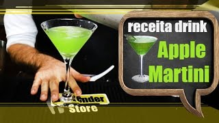 Receita Drink Apple Martini - Bartender Store