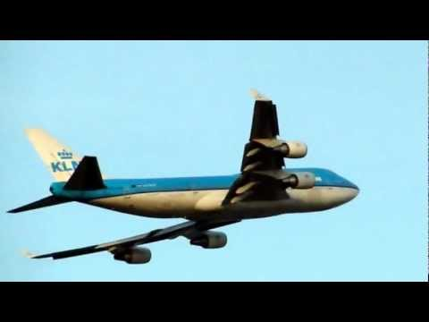 KLM 747- 400 TAKEOFF FROM CURACAO HATO AIRPORT