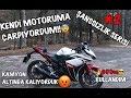 KAMYONUN ALTINDA KALIYORDU! | KENDİ MOTORUMA ÇARPIYORDUM | 600cc KULLANDIM | ŞANSSIZLIK SERİSİ #2
