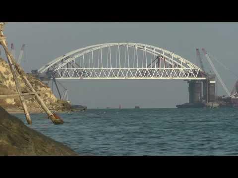 Мост в Крым. Фарватер.21 Окт.2017г.