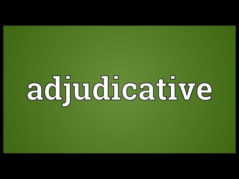 Header of adjudicative