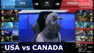 NA LCS Civil War - Team USA vs Team Canada   2018 April Fools LoL Casters and Pro Players show Match