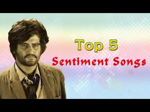 Top 5 Sentimental Songs Of Rajini | Tamil Movie Songs Audio Jukebox | Rajinikanth Songs video