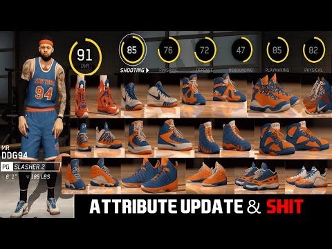 NBA Live 16 Rising Star - ATTRIBUTE UPDATE & NEW SHOES!!!