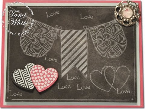 Chalkboard Technique Valentine Card - Stampin' Up!