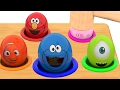 Whac a Mole game Character Surprise Eggs Learn Colors for Kids Children Cookie Monster