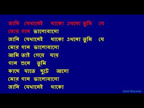 Jani Jekhanei Thako - Kishore Kumar Bangla Full Karaoke With Lyrics video