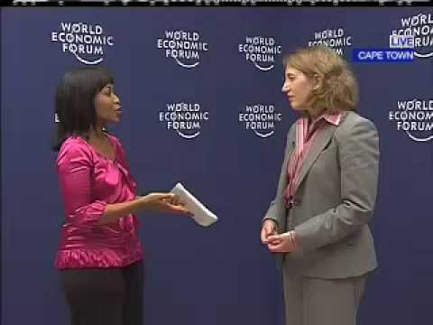 Sylvia Mathews Burwell, from the Bill &amp; Melinda Gates Foundation, speaking at the World Economic Forum on Africa.