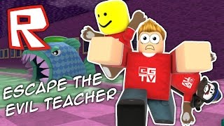 Escape the EVIL TEACHER!! | Roblox Obby