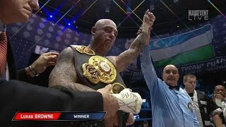 CHAGAEV STOPPED IN 10! CHAGAEV VS BROWNE FULL POST FIGHT RESULTS! BIG DADDY STILL NEEDS WORK!