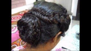 A Braid hairstyle with Braided bun.
