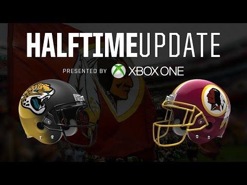 Redskins Halftime Update presented by Microsoft vs. Jaguars