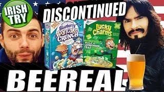 Irish People Try 'Discontinued' American Breakfast Cereals + Beer!! = 'BEEREAL'