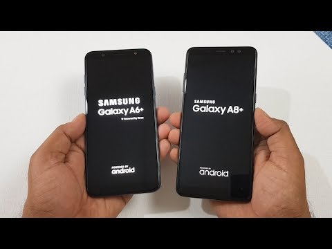 Samsung A6+ vs Samsung A8+ Speed Test !