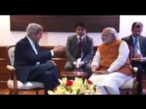 John Kerry meets PM Narendra Modi